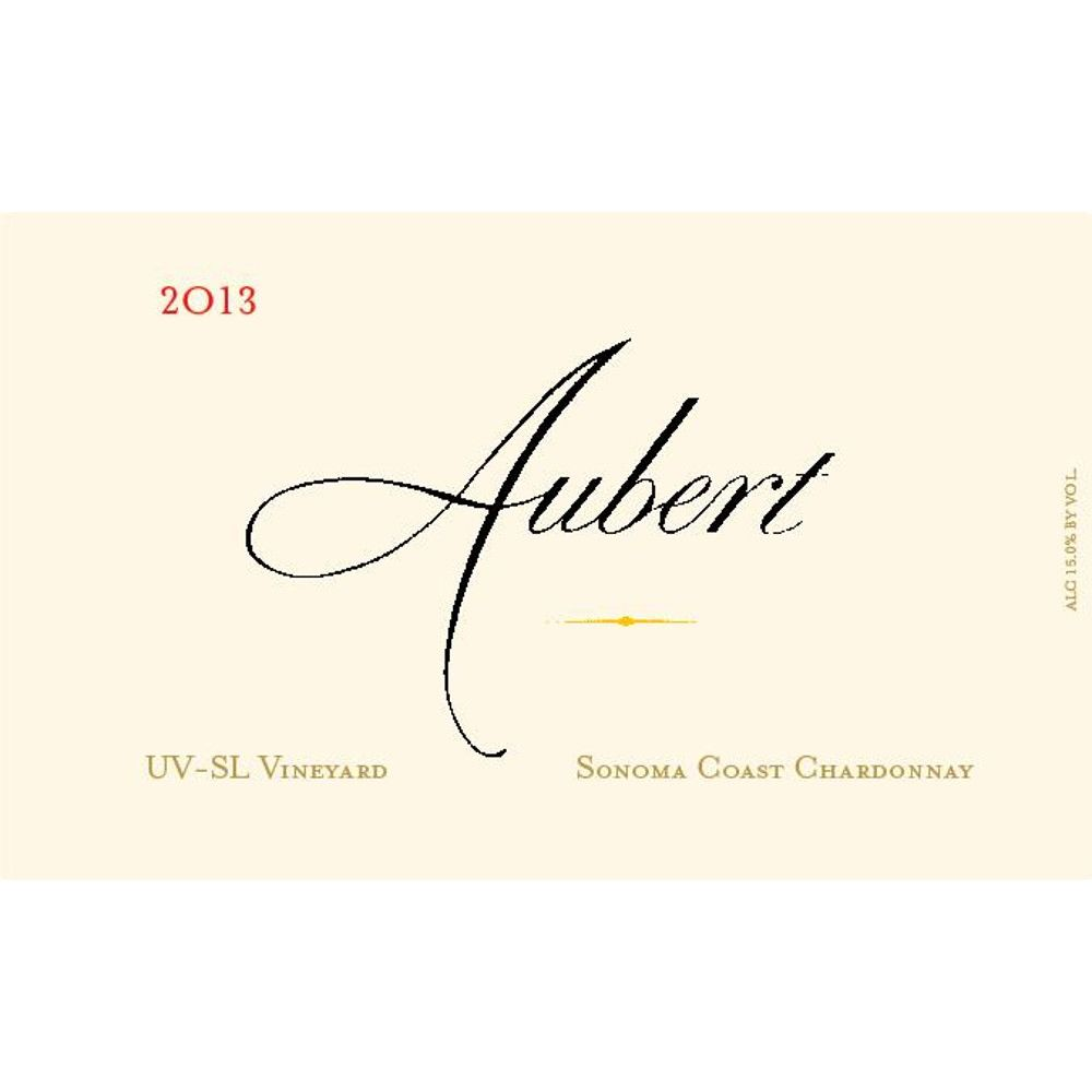 Aubert UV-SL Vineyard Chardonnay 2013 Front Label
