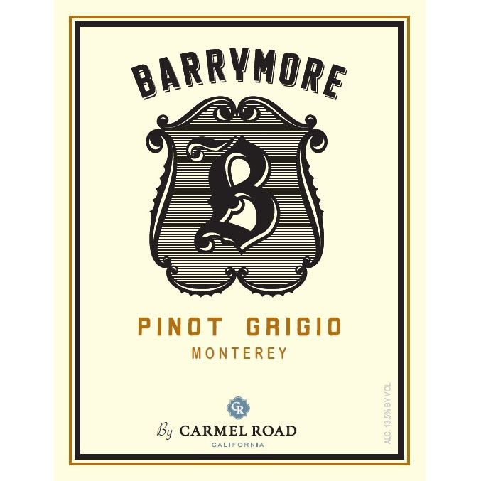 Barrymore by Carmel Road Pinot Grigio 2015 Front Label