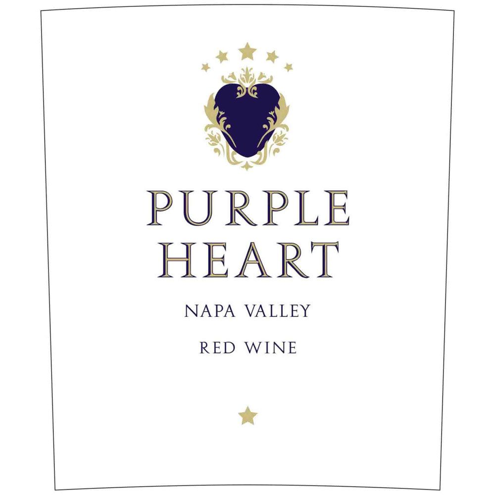 Purple Heart Red Wine 2013 Front Label