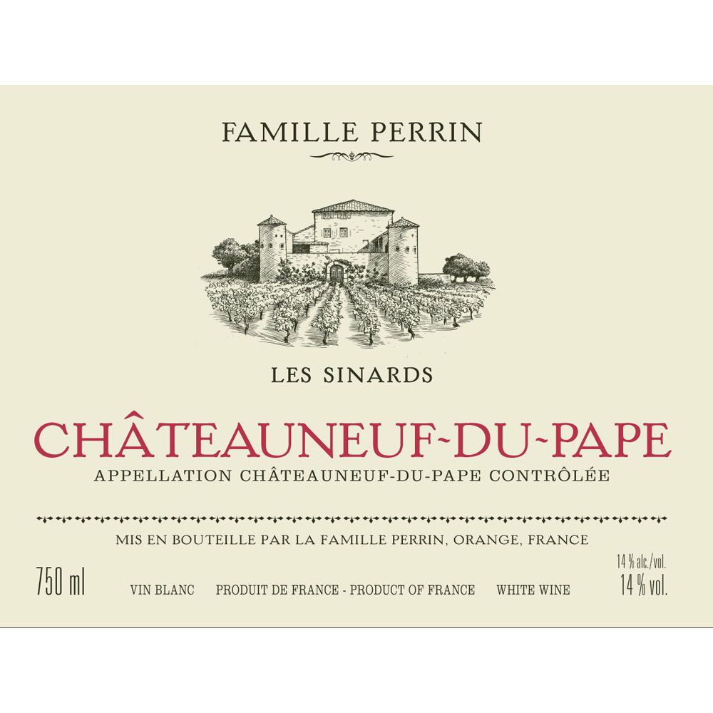 Famille Perrin Chateauneuf-du-Pape Les Sinards Blanc 2011 Front Label