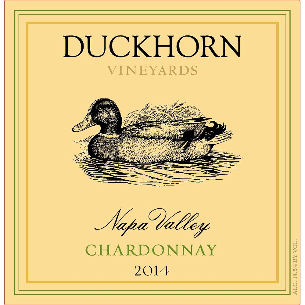 Duckhorn Napa Valley Chardonnay (375ML half-bottle) 2014 Front Label