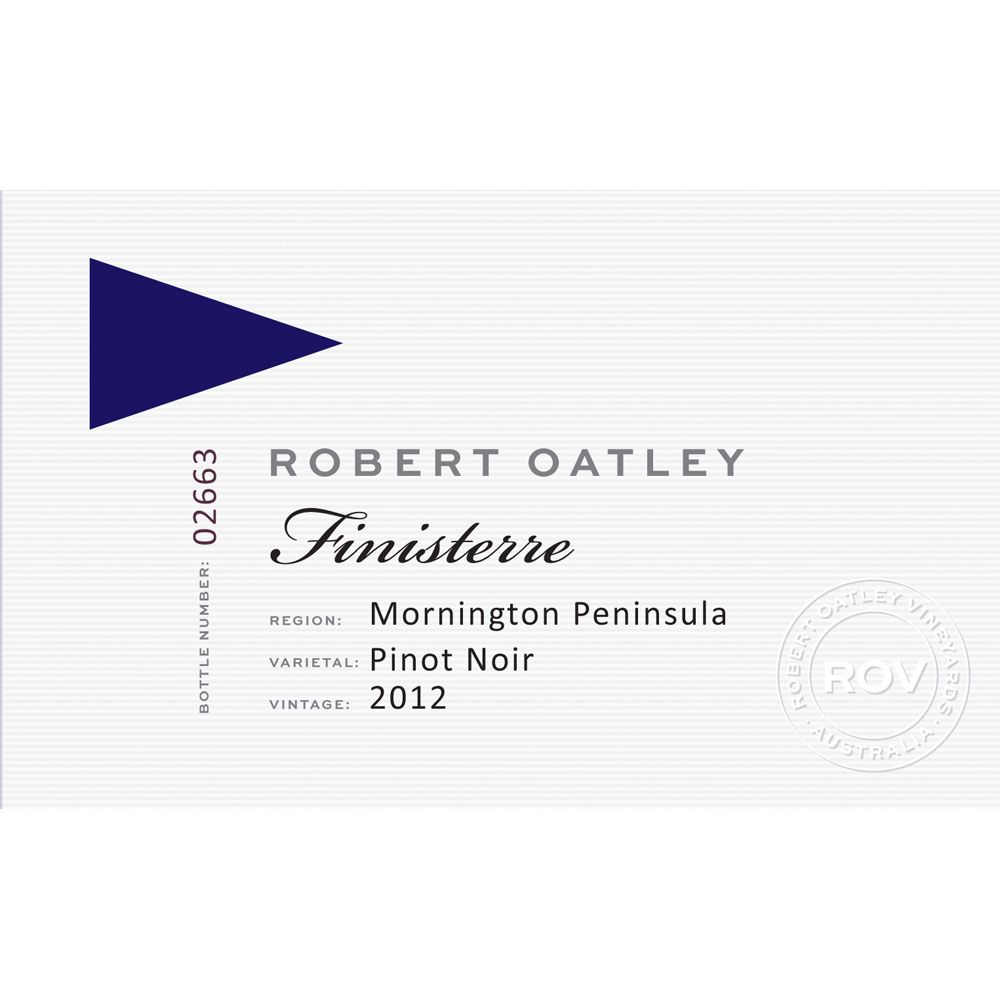 Robert Oatley Finisterre Mornington Peninsula Pinot Noir 2012 Front Label