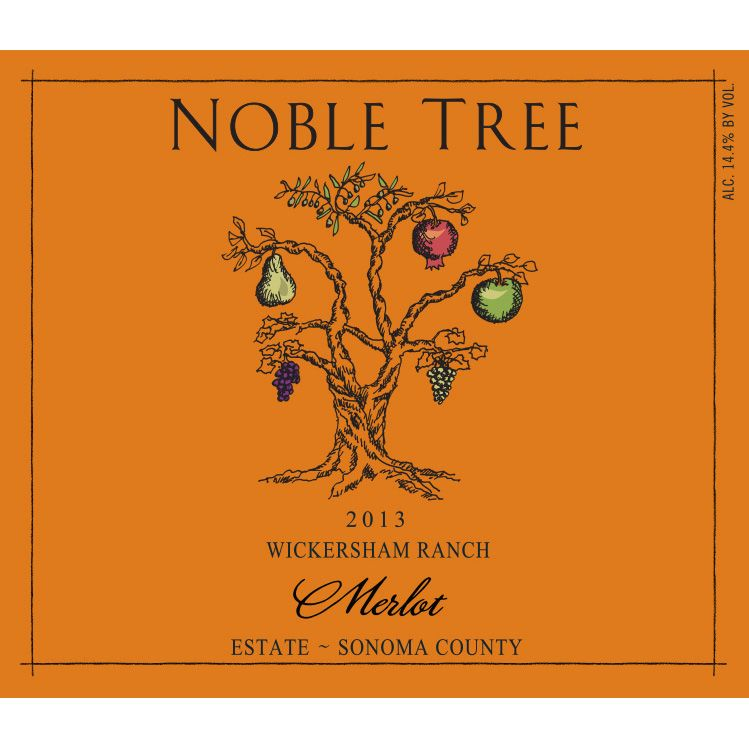 Noble Tree Wickersham Ranch Merlot 2013 Front Label