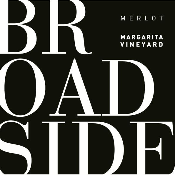 Broadside Margarita Vineyard Merlot 2014 Front Label