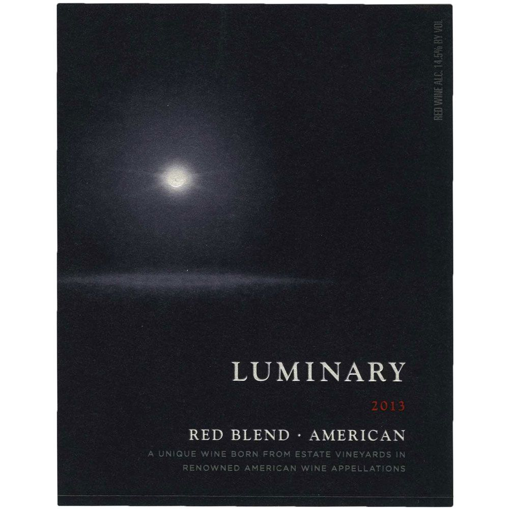 Luminary American Red Blend 2013 Front Label