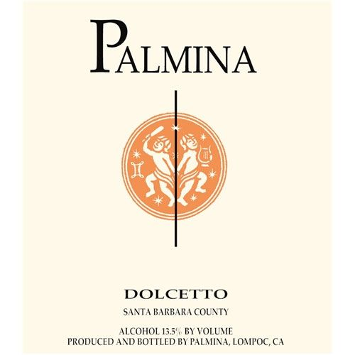 Palmina Dolcetto 2013 Front Label