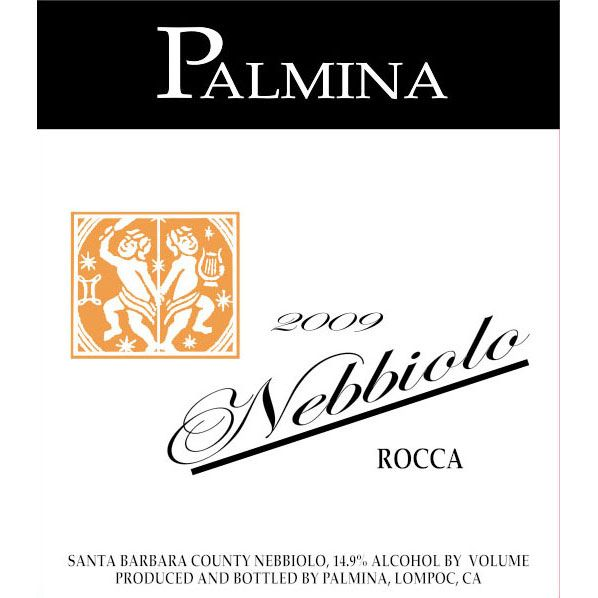 Palmina Rocca Vineyard Nebbiolo 2008 Front Label