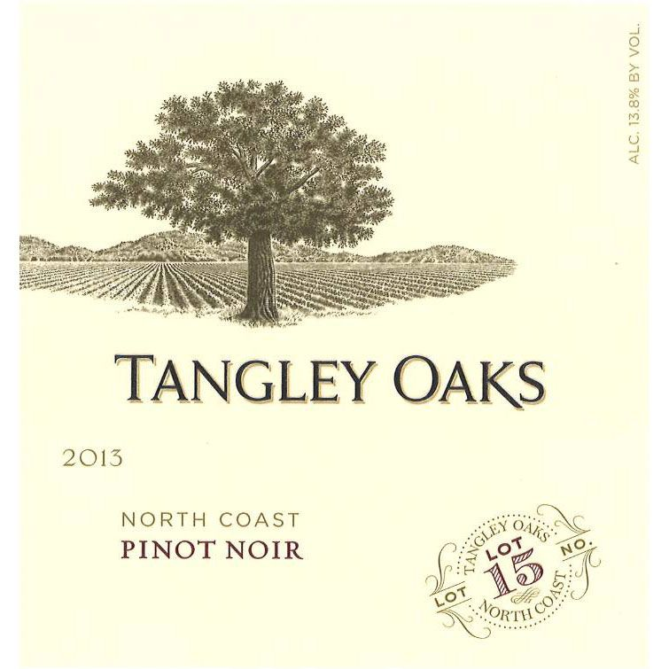 Tangley Oaks North Coast Pinot Noir 2013 Front Label