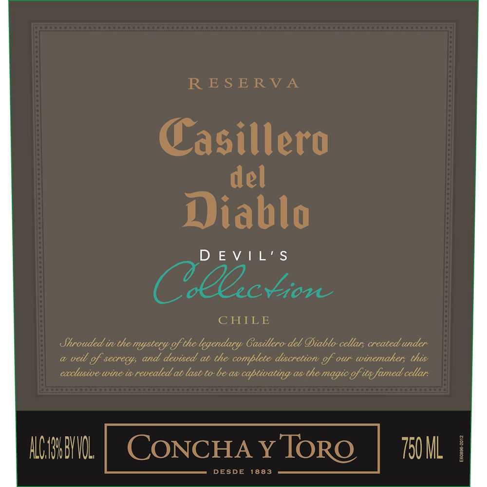 Concha y Toro Casillero del Diablo Devil's Collection White 2015 Front Label
