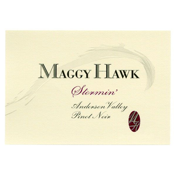 Maggy Hawk Stormin' Anderson Valley Pinot Noir 2012 Front Label