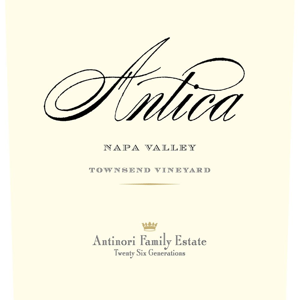 Antica Townsend Vineyard Cabernet Sauvignon 2012 Front Label
