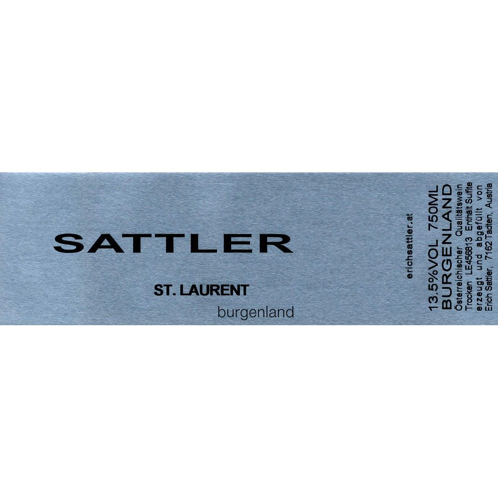 Sattler St. Laurent 2013 Front Label