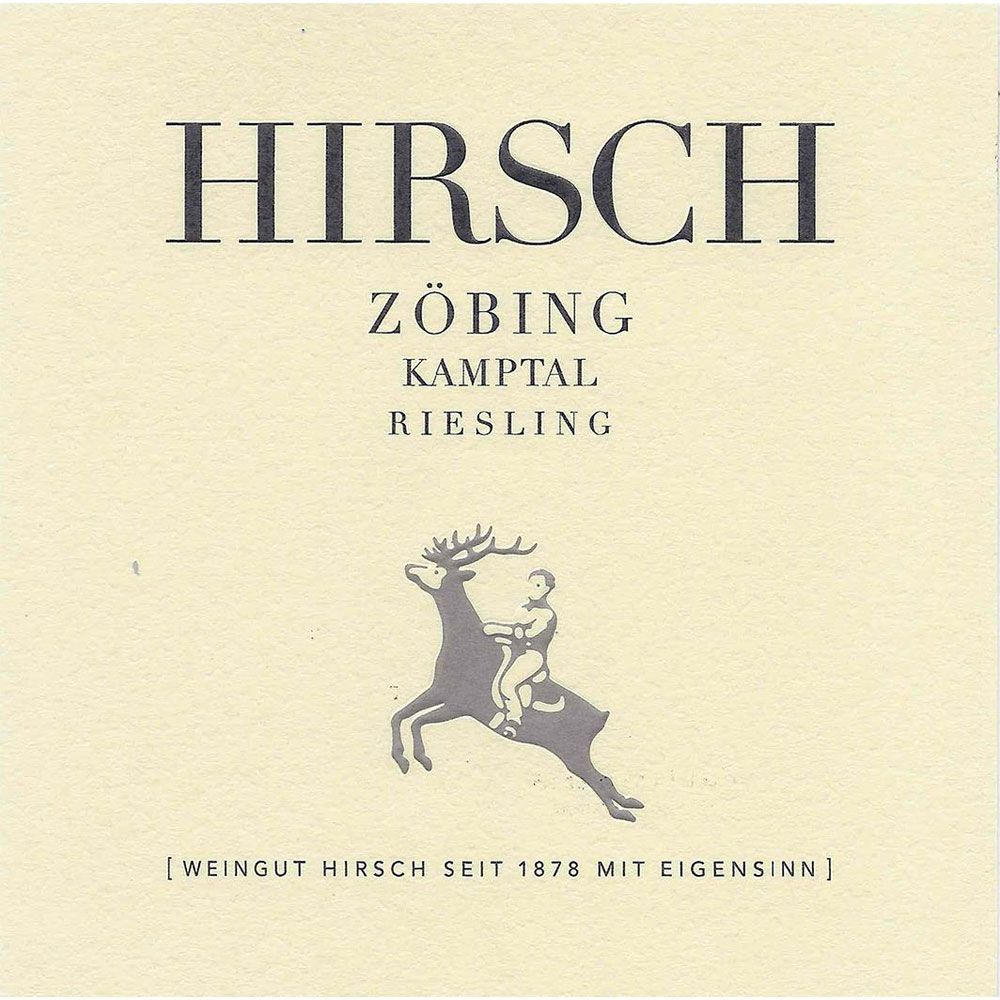 Weingut Hirsch Zobing Riesling 2013 Front Label
