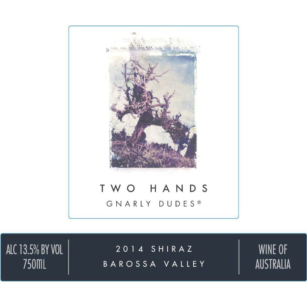 Two Hands Gnarly Dudes Shiraz 2014 Front Label