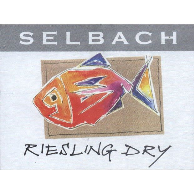 Selbach Dry Riesling (Fish Label) 2014 Front Label