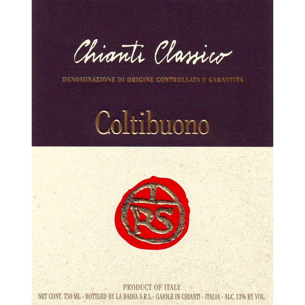 Badia a Coltibuono Chianti Classico RS (375ML half-bottle) 2014 Front Label