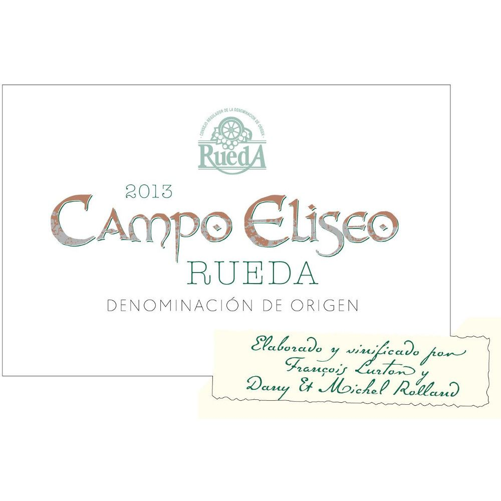 Campo Eliseo Blanco do Rueda 2013 Front Label