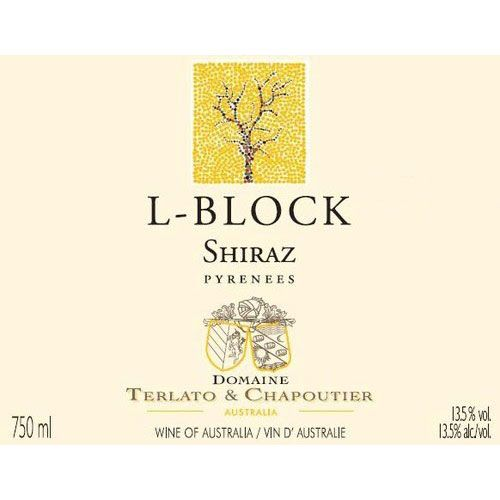Domaine Terlato & Chapoutier L Block Shiraz 2011 Front Label