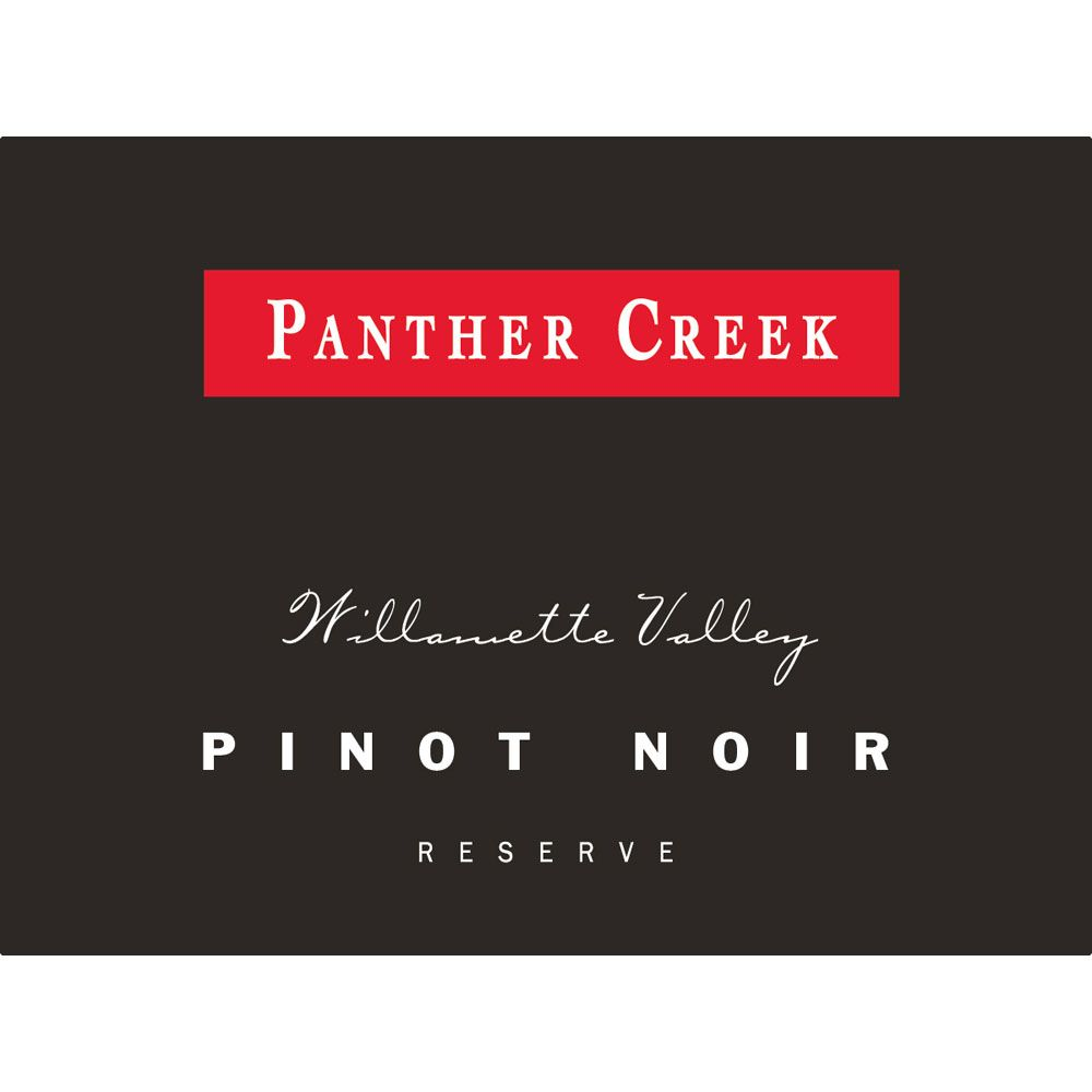 Panther Creek Reserve Pinot Noir 2012 Front Label