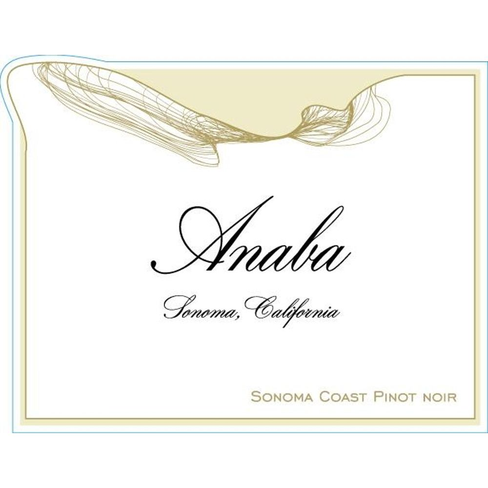 Anaba Sonoma Coast Pinot Noir 2013 Front Label