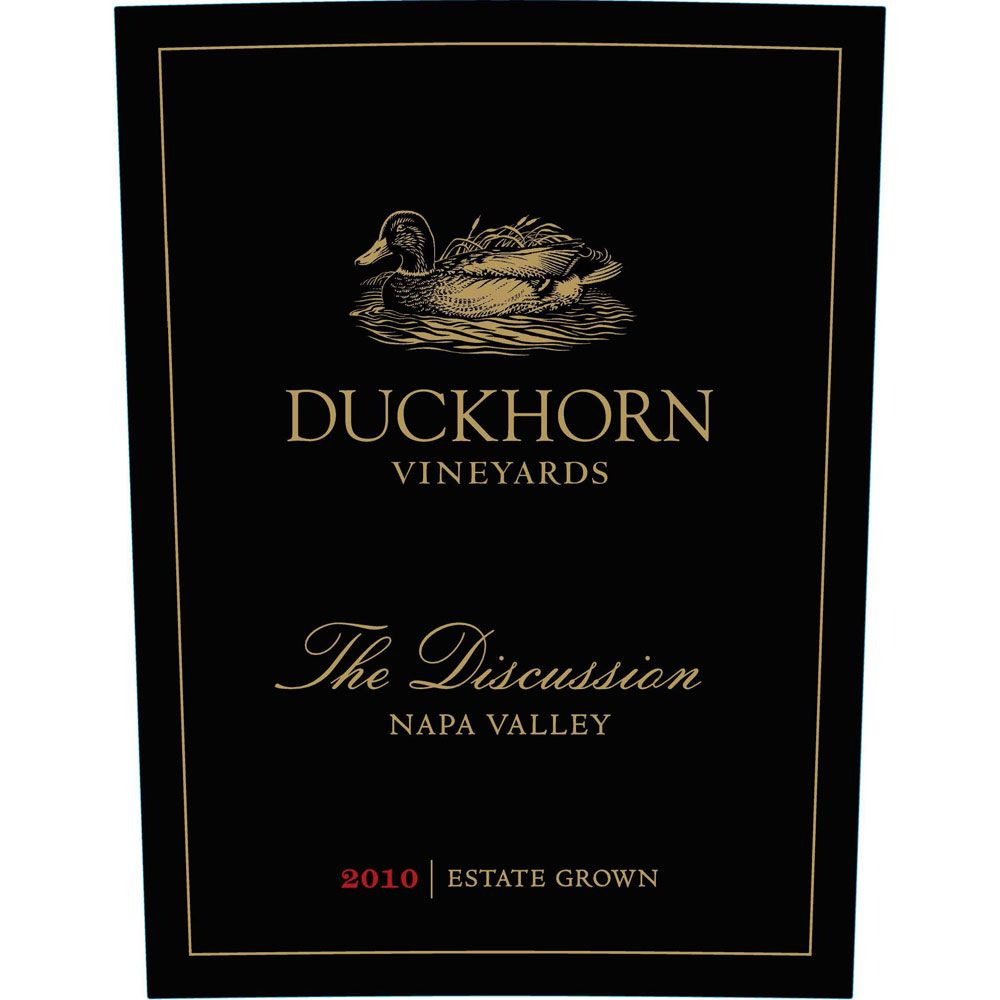 Duckhorn The Discussion 2012 Front Label