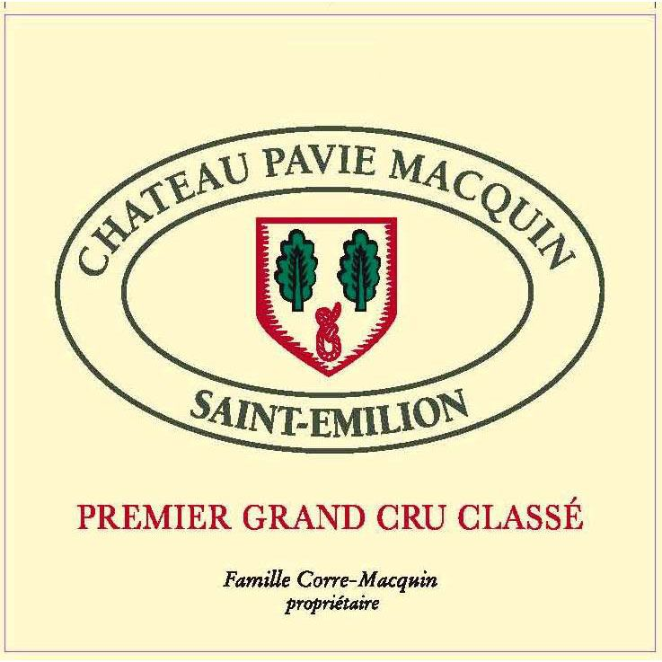 Chateau Pavie Macquin  2015 Front Label