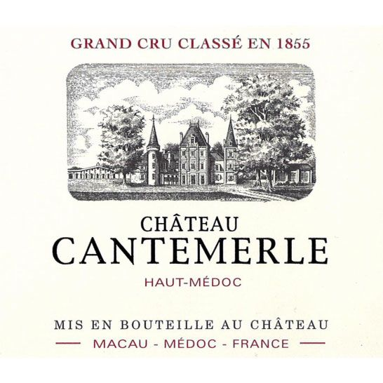 Chateau Cantemerle  2015 Front Label