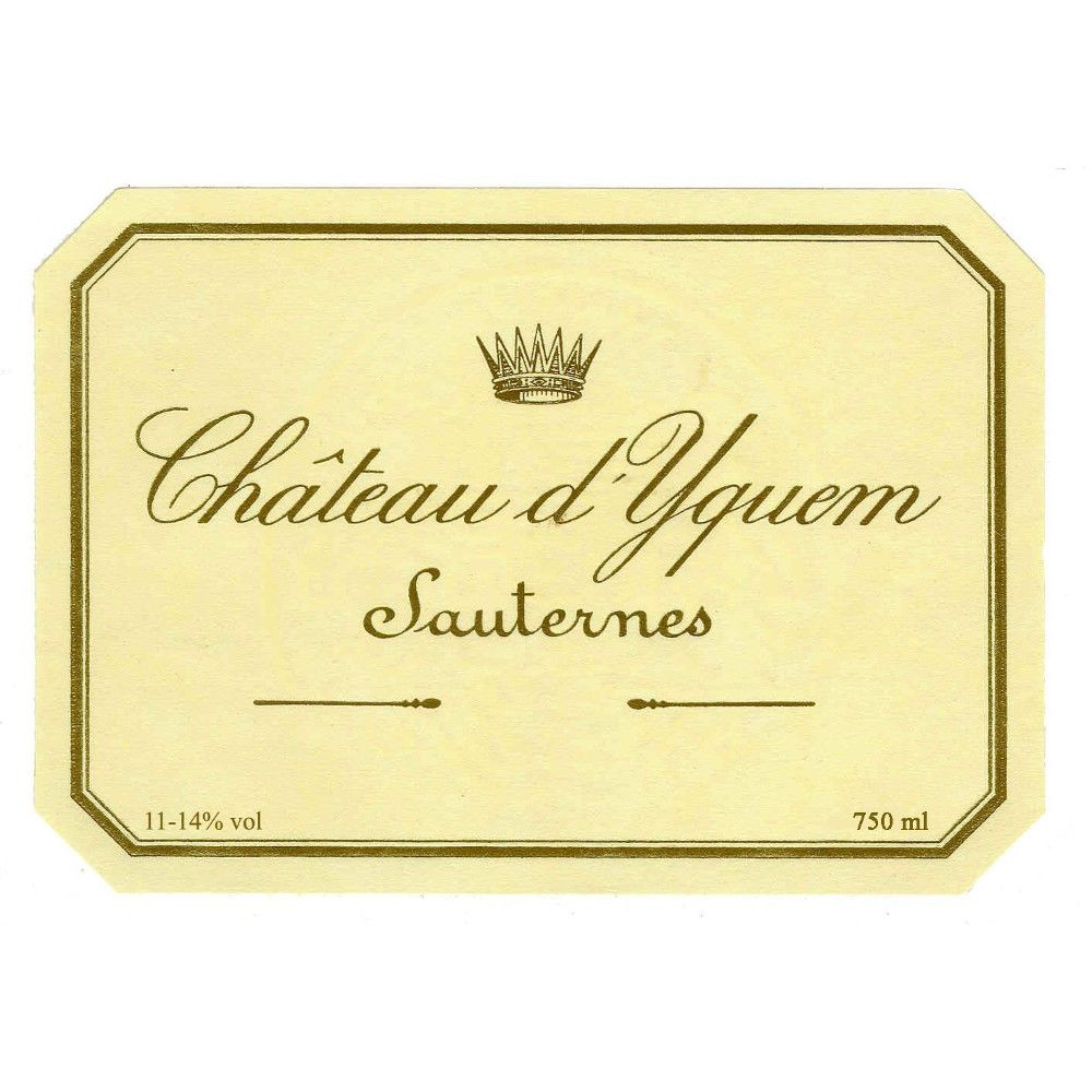 Chateau d'Yquem Sauternes (375ML half-bottle) 1993 Front Label