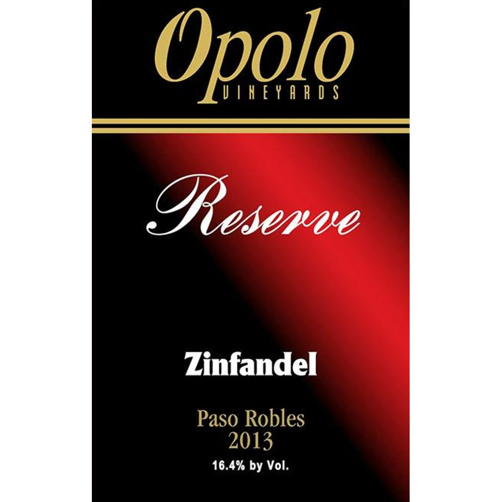 Opolo Reserve Zinfandel 2013 Front Label