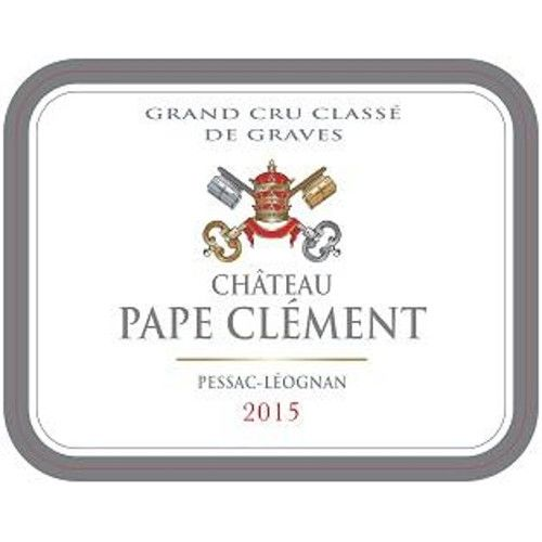 Chateau Pape Clement  2015 Front Label