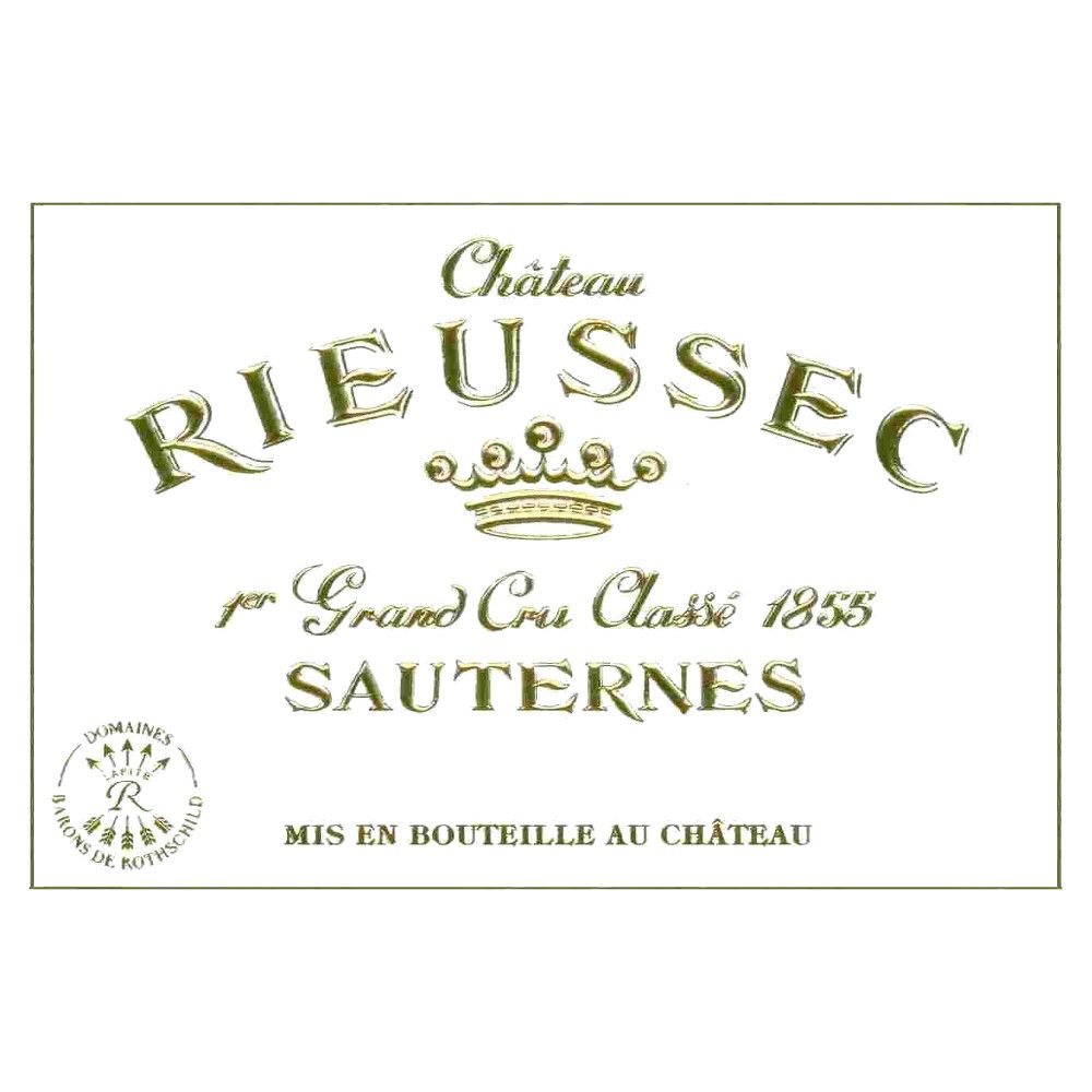 Chateau Rieussec Sauternes (375ML half-bottle) 2015 Front Label