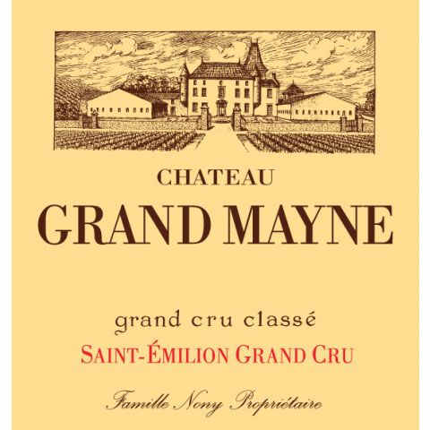 Chateau Grand Mayne  2015 Front Label