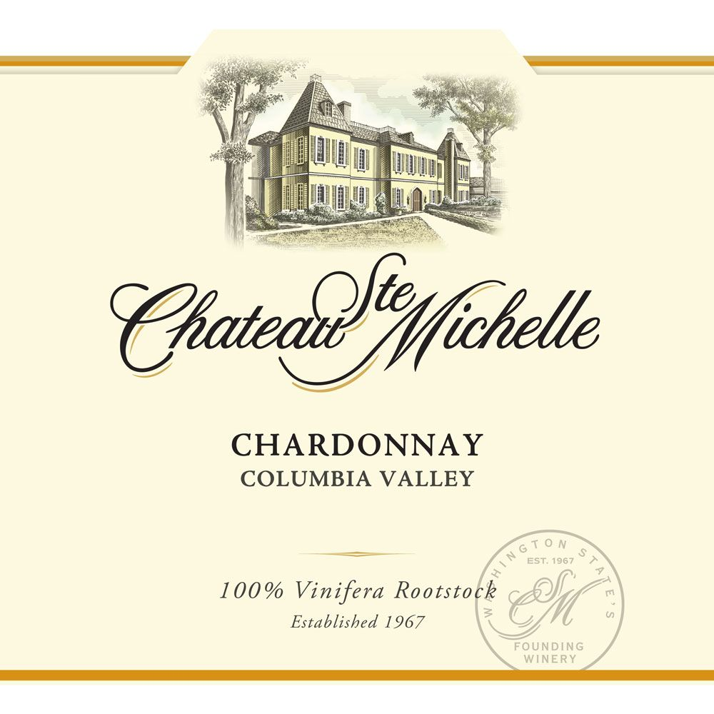 Chateau Ste. Michelle Chardonnay (375ML half-bottle) 2014 Front Label