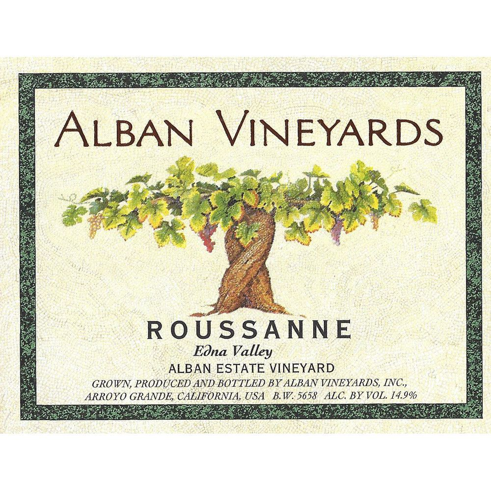 Alban Estate Roussanne 2010 Front Label