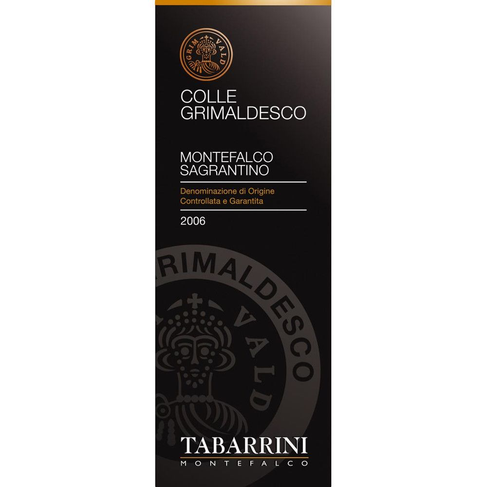 Tabarrini Sagrantino di Montefalco Colle Grimaldesco 2006 Front Label