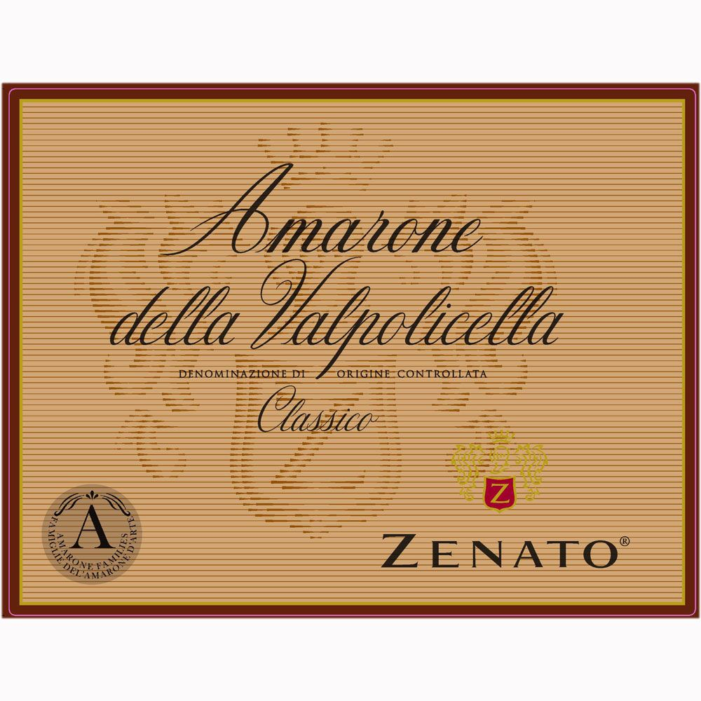 Zenato Amarone (375ML half-bottle) 2011 Front Label