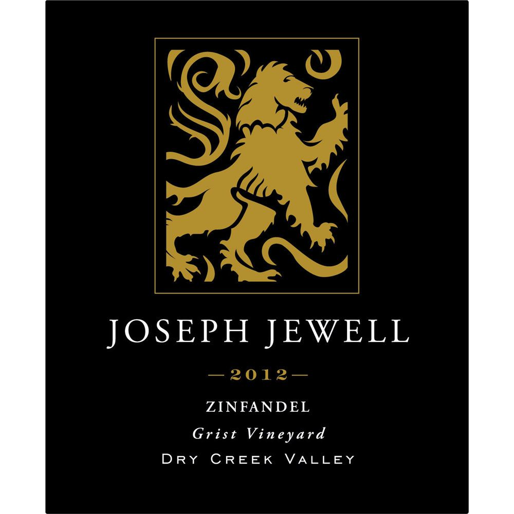 Joseph Jewell Grist Vineyard Zinfandel 2012 Front Label