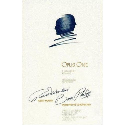 Opus One (torn labels) 2001 Front Label