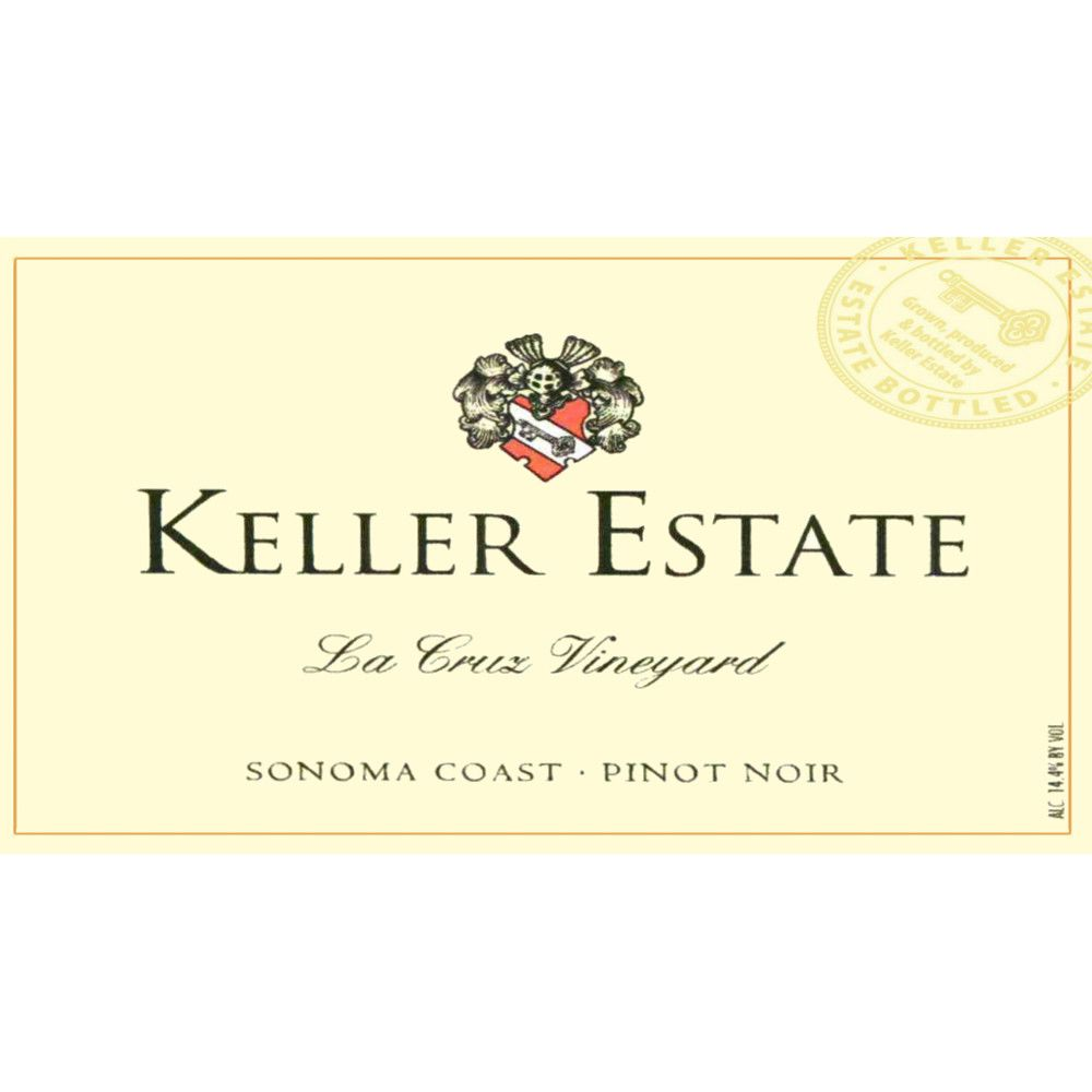 Keller Estate La Cruz Vineyard Pinot Noir 2012 Front Label