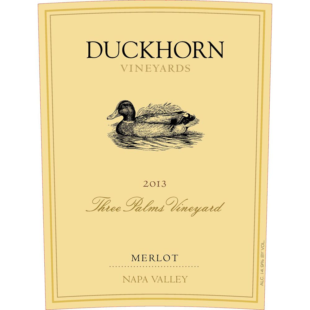 Duckhorn Three Palms Merlot 2013 Front Label