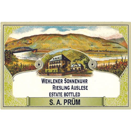 S.A. Prum Wehlener Sonnenuhr Auslese Riesling 2012 Front Label