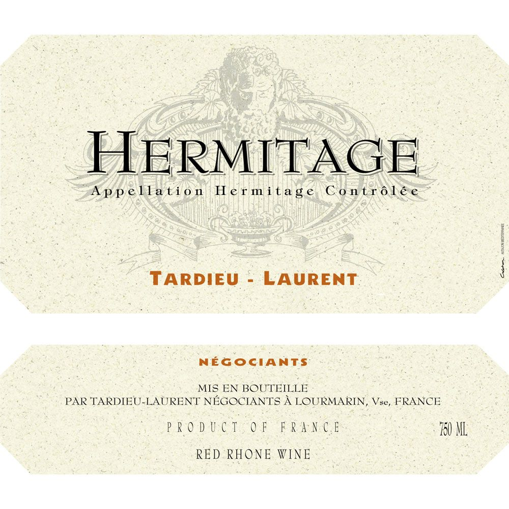 Tardieu-Laurent Hermitage (scuffed labels) 1999 Front Label