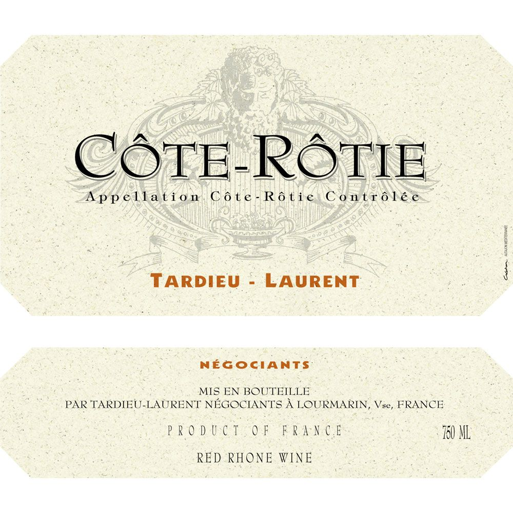 Tardieu-Laurent Cote Rotie 1999 Front Label