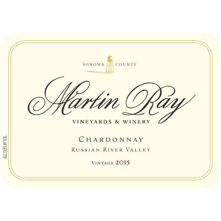 Martin Ray Russian River Valley Chardonnay 2015 Front Label