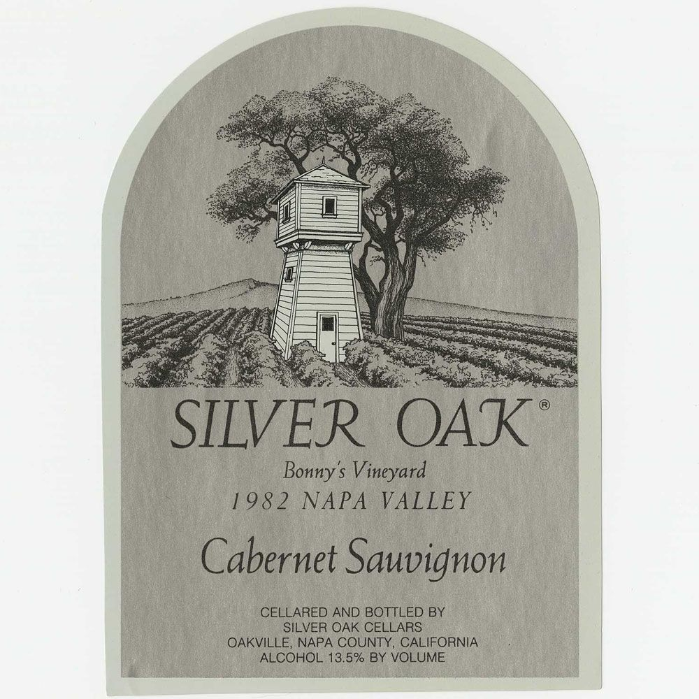 Silver Oak Napa Valley Bonny's Vineyard Cabernet Sauvignon 1982 Front Label