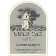 Silver Oak North Coast Cabernet Sauvignon 1974 Front Label