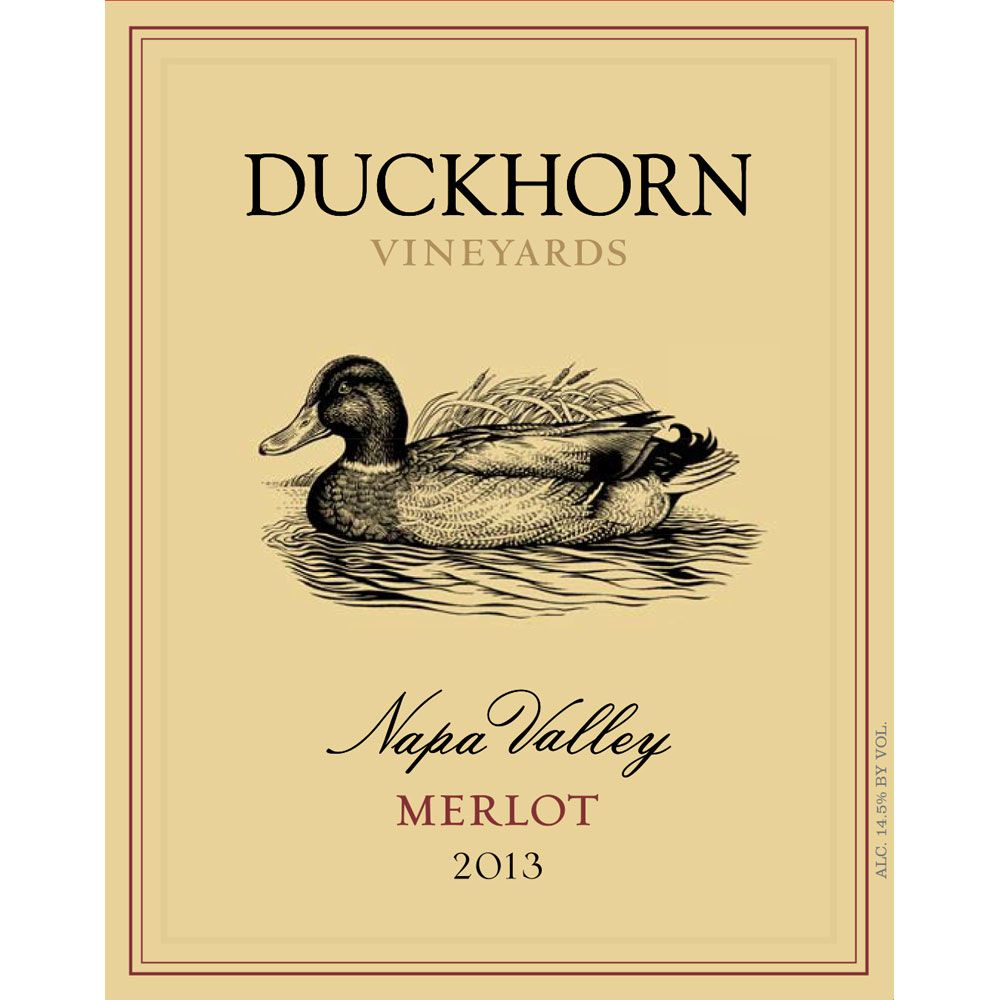 Duckhorn Napa Valley Merlot 2013 Front Label