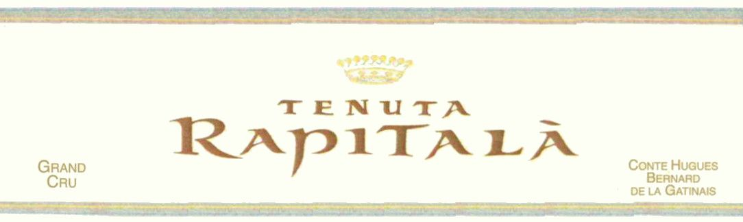 Rapitala Grand Cru Chardonnay 2008 Front Label