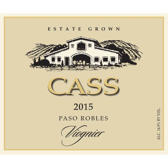 Cass Winery Viognier 2015 Front Label