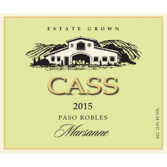 Cass Winery Roussanne 2015 Front Label